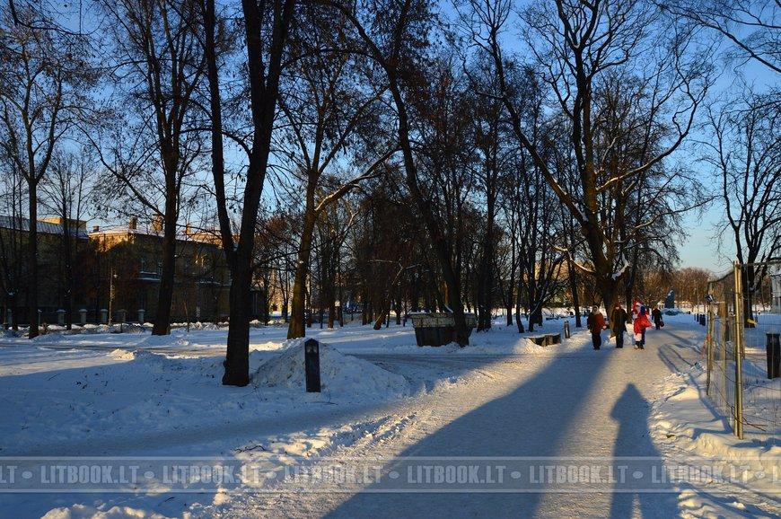 Рождественские праздники в Вильнюсе на Кафедральной площади