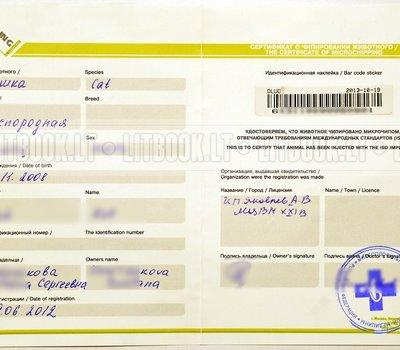 сертификат о чипировании