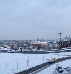 Вид с верхнего парковочного этажа в ТЦ Ozas (Озас)