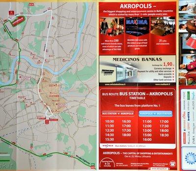 Карта-схема ТЦ Акрополис (Akropolis), Вильнюс