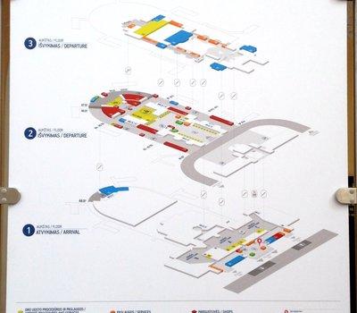 Схема аэропорта Вильнюса