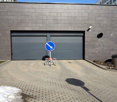 Новостройка Литвы - въезд в подземную парковку