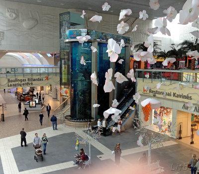 Аквариум в ТЦ Мега, Каунас