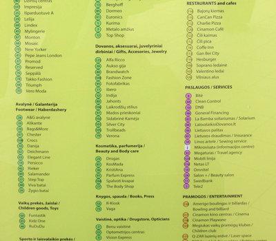 Торгово-развлекательный центр Mega, карта-схема