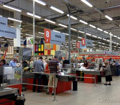 Торговые залы магазина Сенукай в Вильнюсе