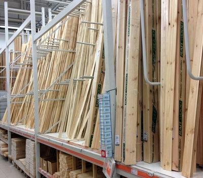 Сенукай, деревянные рейки и обналичники