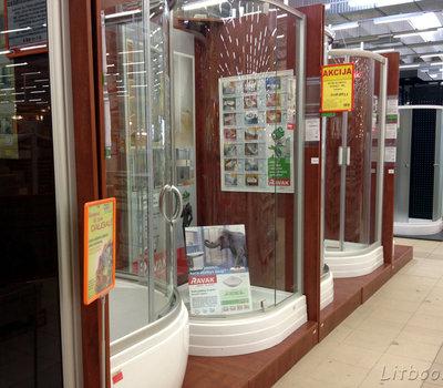 Ассортимент сантехники в Сенукай - душевые кабинки