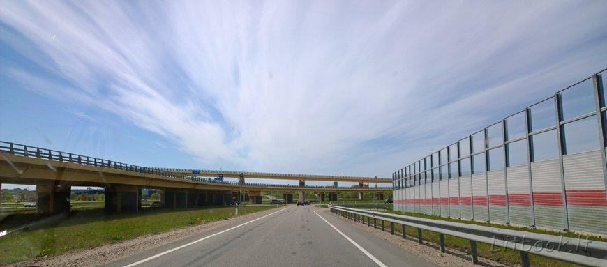 Дорога в Клайпеду, вьезд в город