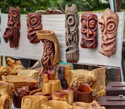 Ярмарка в Кернаве, в день празднования Расос