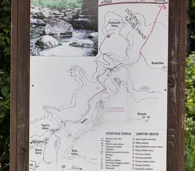 Карта познавательной тропы и расположения курганов