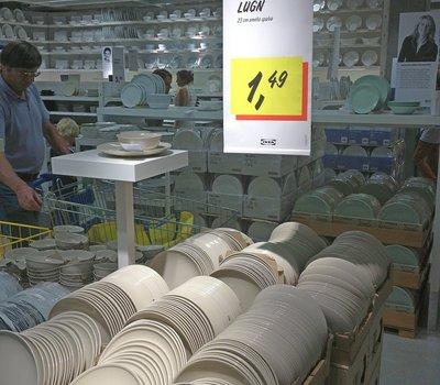 цены на посуду в ИКЕЕ Вильнюс