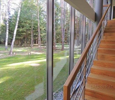 Из всех помещений санатория открывается чудесный вид на сосновый бор