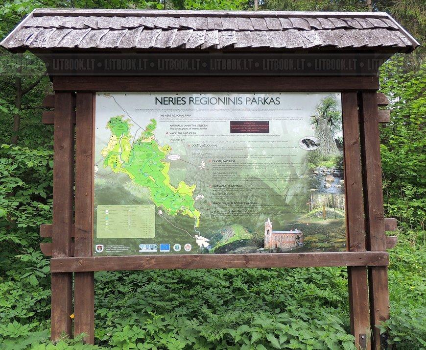 Региональный парк Нерис, карта