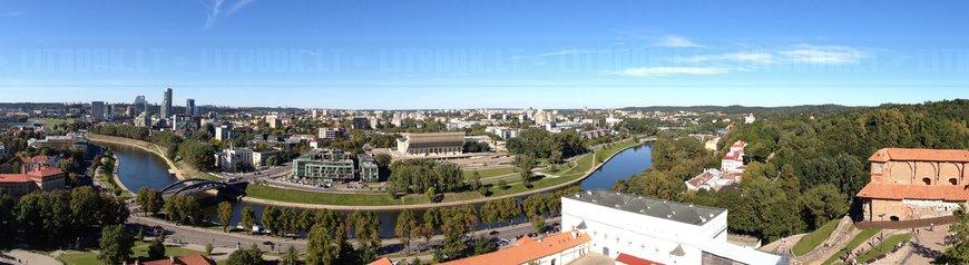 Панорамный вид с высоты на Вильнюс