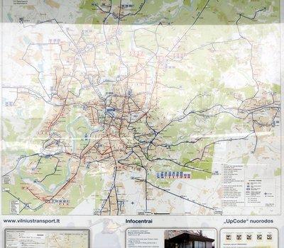Карта маршрутов общественного транспорта г. Вильнюс