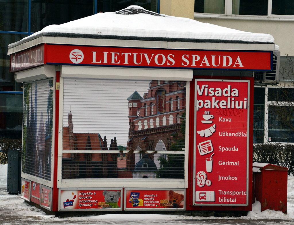 Литовский киоск Lietuvos Spauda
