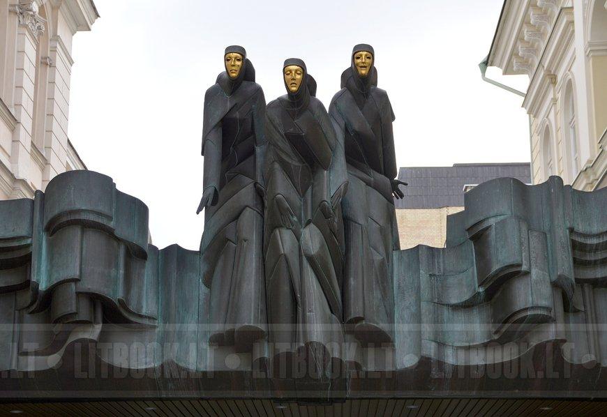 Скульптура Три музы, Вильнюс