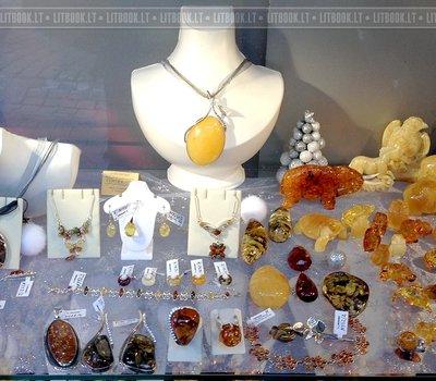 магазин янтаря в Литве