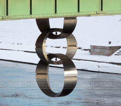 Скульптура Цепь Зеленый мост Вильнюс