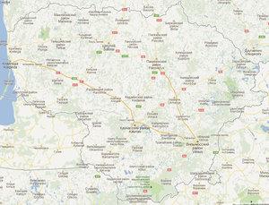 Карта уездов Литвы